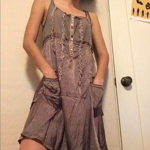 Brown Desigual Ruffle Dress